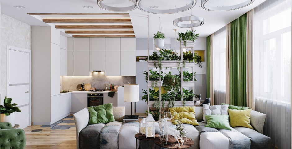 Кухня - гостиная - 2 этаж