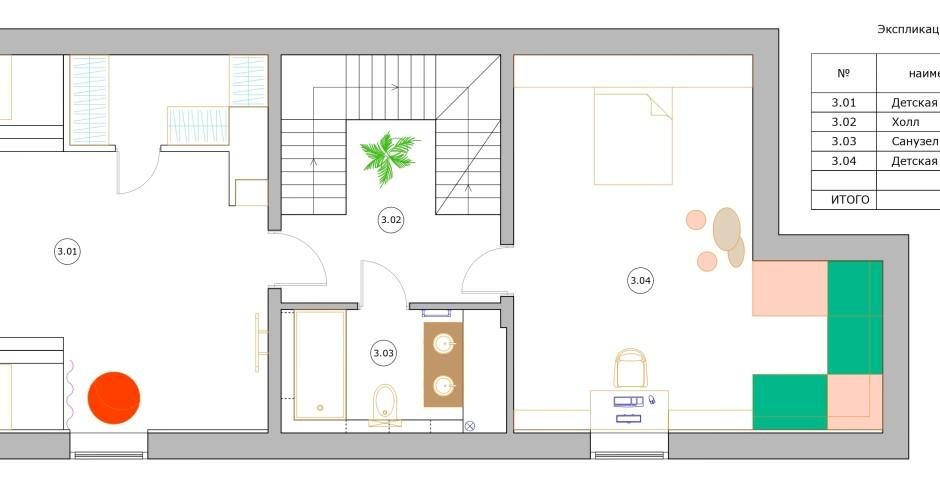 Планировка - 3 этаж